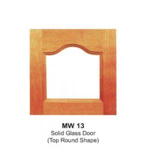 MW13-SOLID-GLASS-DOOR(TOP-ROUND-SHAPE)
