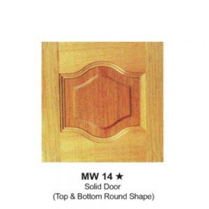 MW14---SOLID-DOOR(TOP-&-BOTTOM-ROUND-SHAPE)