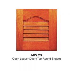 MW23-OPEN-LOUVER-DOOR(TOP-ROUND-SHAPE)