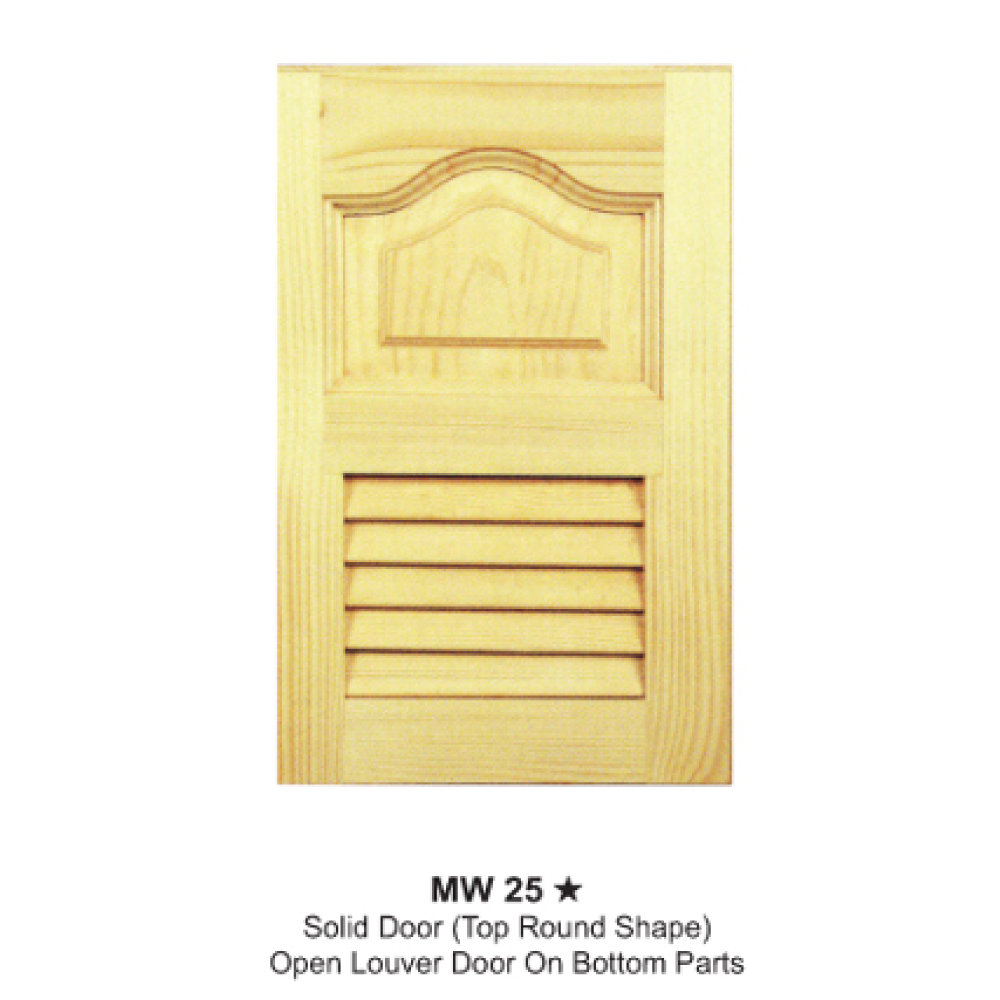 Mw25 Solid Door Top Round Shape Open Louver On Bottom Parts